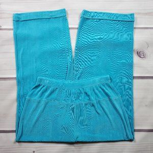 Vikki Vi Pull-On Cropped Pants Size 1X Solid Blue